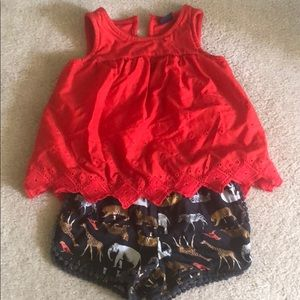 BabyGap HTF zoo shorts and top 3/4T HSA